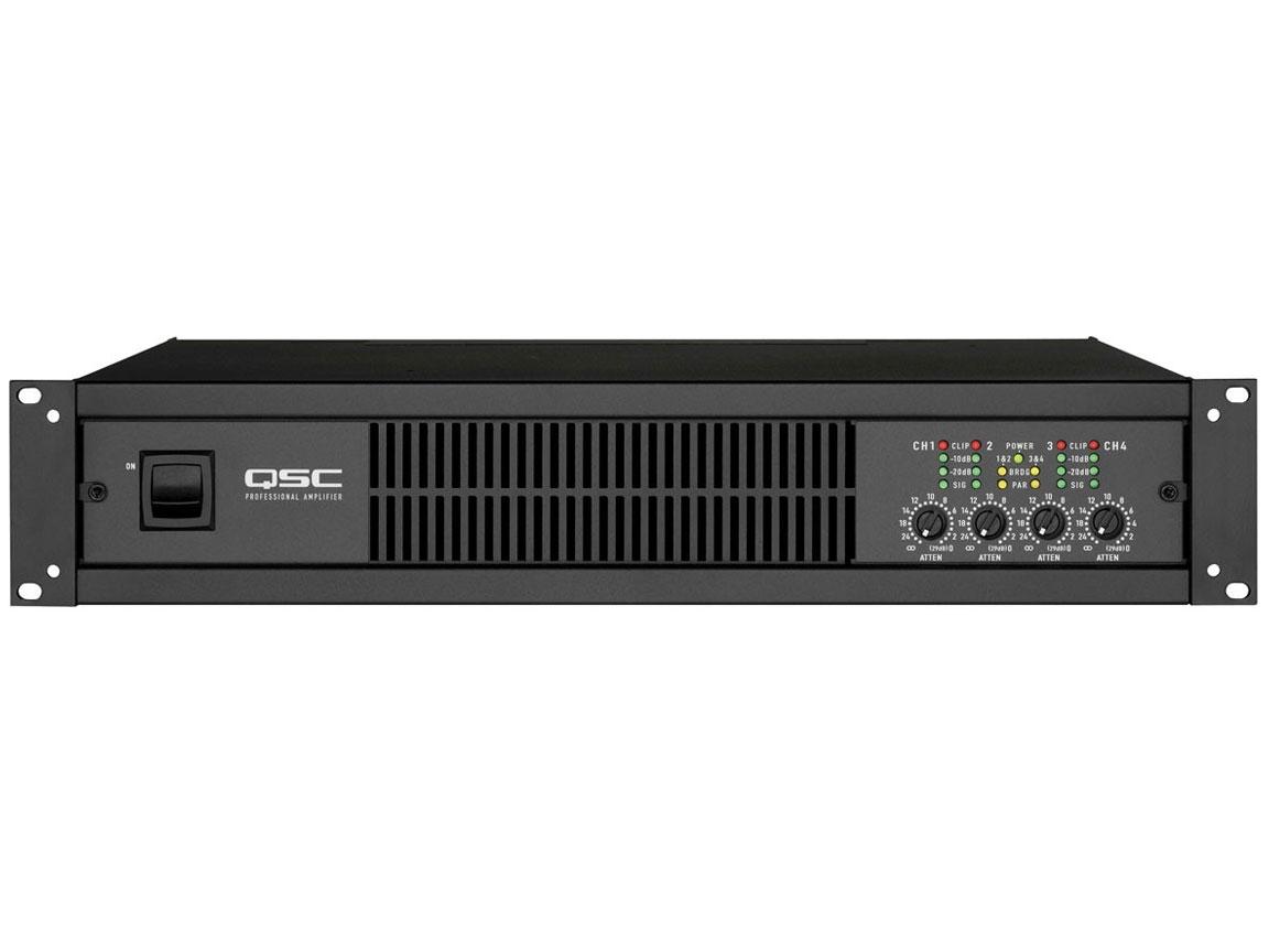 cx204v 4 channel power amplifier 200watts ch 70 volt qsc. Black Bedroom Furniture Sets. Home Design Ideas