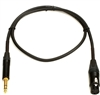 GOLD TRSXLRF-03, Line Cable - 1/4 TRS to XLRF - 3 Ft. Gold, Mogami