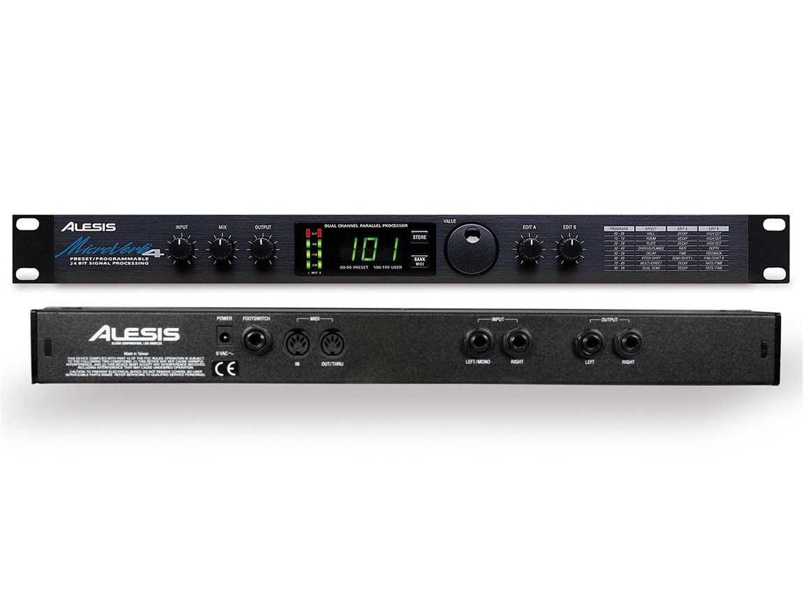 alesis microverb 4 programmable reverb and effects. Black Bedroom Furniture Sets. Home Design Ideas